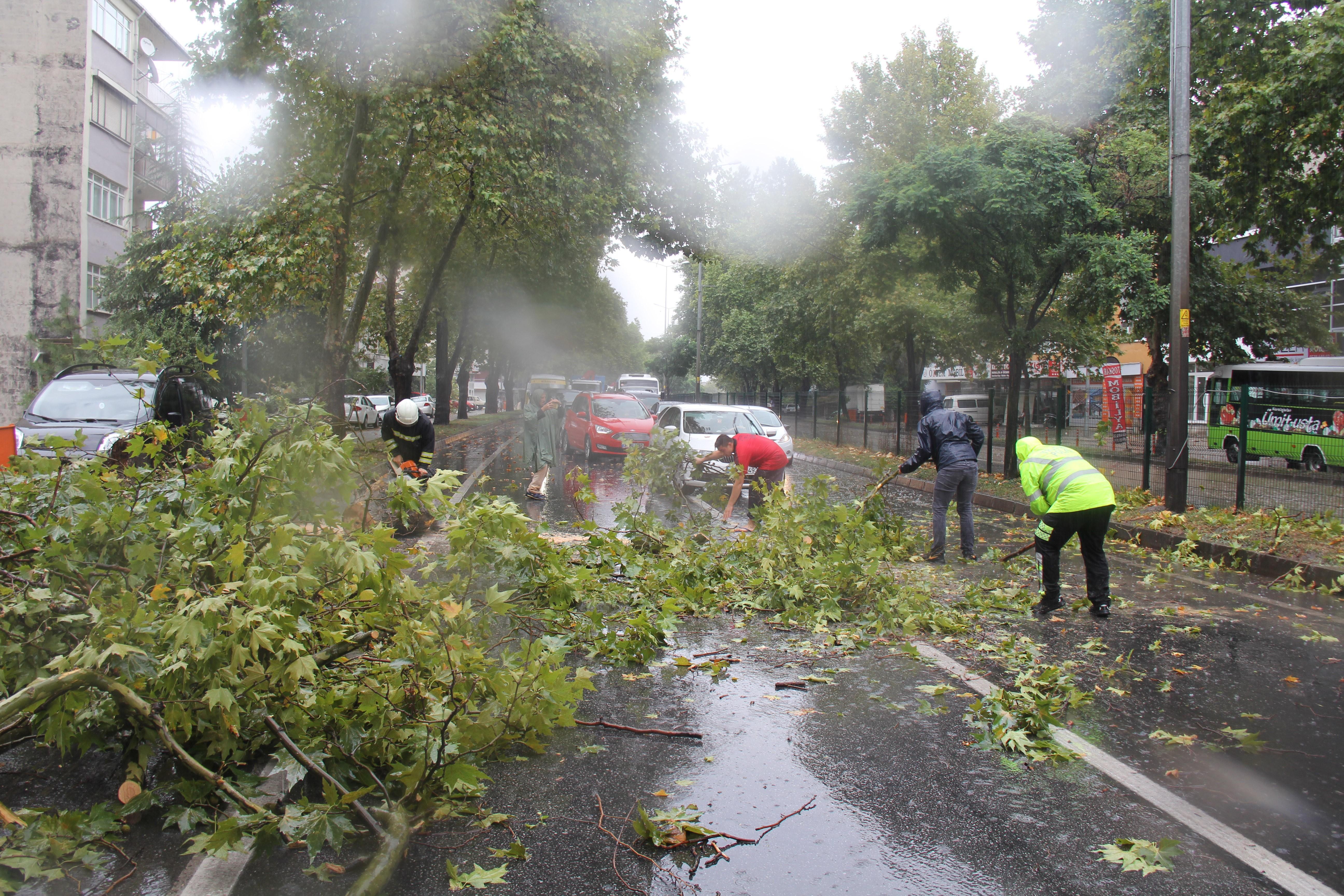 Kocaeli'de sağanak yağış etkili oldu