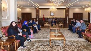 Şehitlerimizin Ailelerinden Vali Aksoy'a Hayırlı Olsun Ziyareti