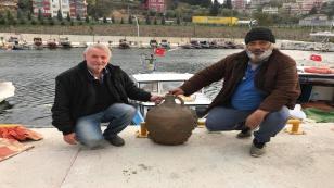 Balıkçıların ağına Bizans Dönemi'ne ait tarihi eser takıldı