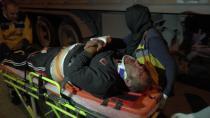 Yön tabelasına çaran TIR'ın sürücüsü ağır yaralandı