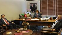 Milletvekili Yaman,Doç. Dr. Soner Şahin'i ziyaret etti