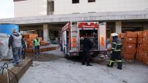 Kocaeli'de hastanede inşaatında korkutan yangın