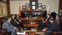 Kaymakam Alkan'dan Başkan Toltar'a iadeyi ziyaret
