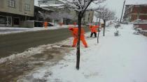 Gebze'de kar teyakkuzu  Ekipler iş başında!