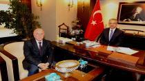 Köşker'e Erzurum'dan konuk başkan