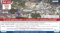 Gebze'de yeni hat düzenlemeleri yapıldı