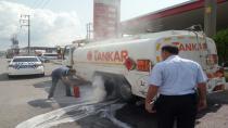 Freni patlayan yakıt yüklü tanker, 40 kilometre sonra durabildi