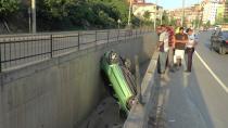 Otomobil su kanalına uçtu: 1 yaralı