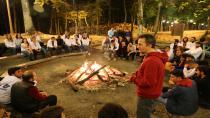 Rektör öğrencileri ile kamp yaptı