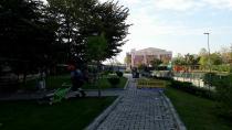 Parklarda sonbahar çalışması