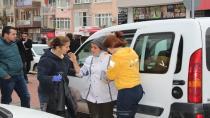 Kaldırımda yürürken ticari araç çarpan kadın yaralandı