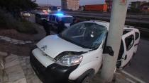 Kontrolden çıkan araç beton duvara çarptı: 1 ölü