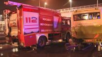 İtfaiye ekipleri göreve giderken kaza yaptı: 6 yaralı
