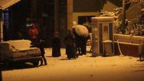 Kocaeli'nde yoğun kar yağışı başladı