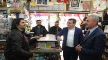 Başkan Demirci ve Çiler'den Esnaf Turu