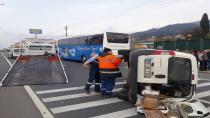 Kocaeli'de 4 araç birbirine girdi: 1 yaralı
