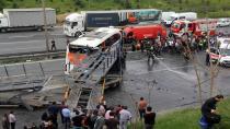 TEM'deki kazada 5 araç birbirine girdi: 4 yaralı