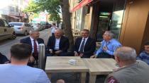 Başkan Köşker'den esnaf ziyareti