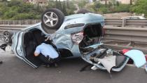 Kocaeli'de kontrolden çıkan otomobil takla attı: 1'i bebek 4 yaralı