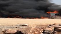 Gebze'de tır alev alev yandı