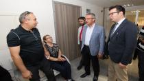 Başkan Köşker'den Hastalara Moral Ziyaretleri
