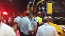 İstanbul'dan Trabzon'a giden otobüste üzerlerine su yağan yolcular otobüsü durdurdu