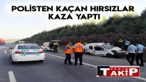 Polisten Kaçan Hırsızlar Kaza Yaptı