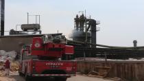 Kereste fabrikasında çıkan yangın paniğe sebep oldu