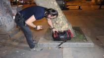 Vali konağının yanında şüpheli valiz alarmı