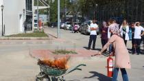 Gebze fatih devlet hastanesinde yangın tatbikatı yapıldı