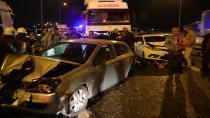 TEM'de 10 araç birbirine girdi: 16 yaralı