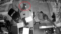 Tırnakçı kameralara yakalandı