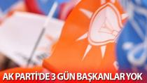 AK Parti'de 3 gün başkanlar yok