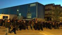 Trelleborg işçileri greve çıktı.