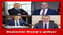 Başkanlar Elazığ'a gidiyorlar
