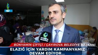 Çayırova Belediye başkanı Bünyamin Çiftçi yardım kampanyasını kendisi takip ediyor