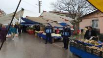 Darıca'da pazarlarda 3 metre kuralına denetim