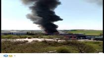 Gebze'de fabrika yanıyor!