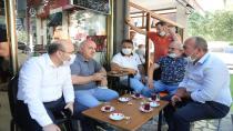 Başkan Bıyık, vatandaşlarla çay içip sohbet etti
