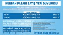 Darıca'daKurbanPazarı alanısatışlarıbaşladı