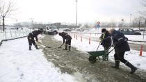 Büyükşehir, buzlanmaya karşı her sabah sahada